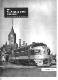 August, 1952 - Milwaukee Road Archive