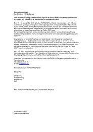 Pressemeddelelse Verdenstræf i Hvide Sande Den internationale ...