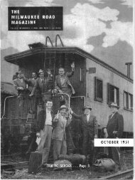 October, 1951 - Milwaukee Road Archive