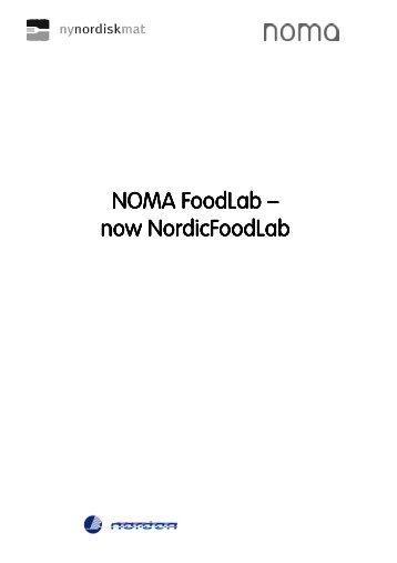Slutrapport - Ny Nordisk Mat