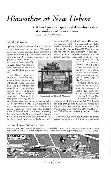 Hiawathas at New Lisbon - Milwaukee Road Archive