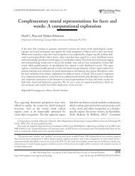 Complementary neural representations for faces and words: A ...
