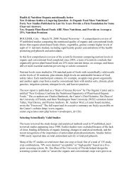 Organic Food Literature Review-97 studies - Mindd foundation
