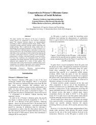 Cooperation in Prisoner's Dilemma Game: Influence of Social ...