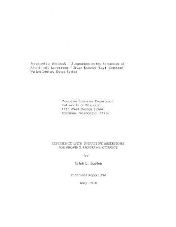 Erwin Engeler (Ed.), Springer - Computer Sciences