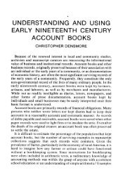 understanding and using early nineteenth century account books