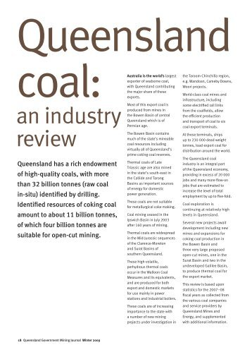 Feature article: Queensland coal-an industry review part 1