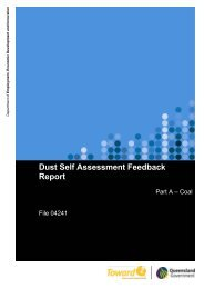 Dust self assessment feedback report - Queensland Mining and Safety