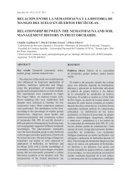 relación entre la nematofauna y la historia de manejo del suelo en ...