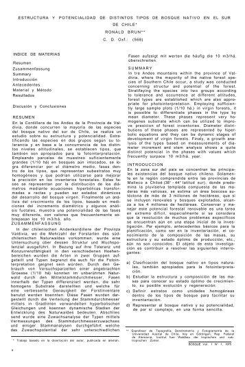 estructura y potencialidad de distintos tipos de bosque nativo en el ...