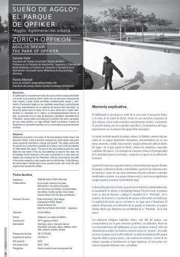 SUEÑO DE AGGLO: EL PARQUE DE OPFIKER ZÜRICH-OPFIKON