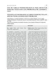 Uso de tablas fitosociológicas para detectar especies vegetales