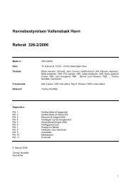 Havnebestyrelsen Vallensbæk Havn Referat 326-2/2006
