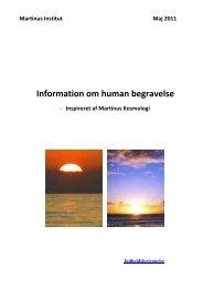 Information om human begravelse - Martinus Institut