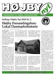 Højby Forsamlingshus: Lokal Danmarkshistorie - Højby Nyt
