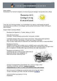 Sommertur 2013 torsdag d. 23 maj kl. 08:30 til 20:00