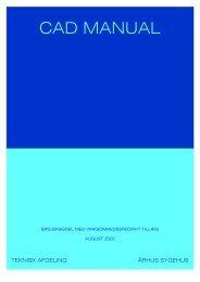cad manual 2005 aarhus sygehus