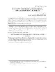bioética y discapacidad psiquiátrica - SciELO