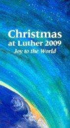Christmas at Luther 2009 program - Minnesota Public Radio