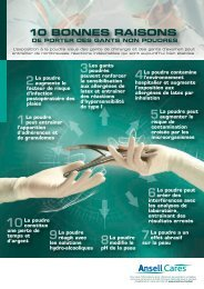10 BONNES RAISONS - Ansell Healthcare Europe