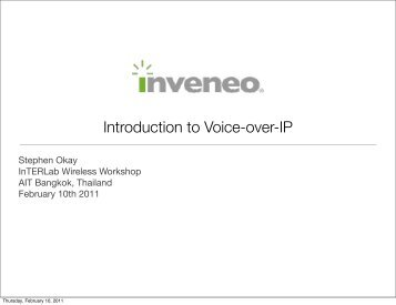Introduction to Voice-over-IP