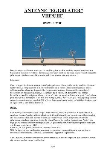 "ANTENNE ""EGGBEATER"" VHF/UHF"
