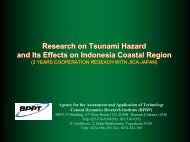 Research on Tsunami Hazard and Its Effects on Indonesia Coastal ...