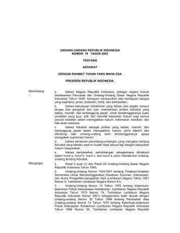 undang-undang republik indonesia nomor 18 tahun ... - Kambing UI