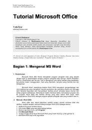 Tutorial Microsoft Office - Kambing UI