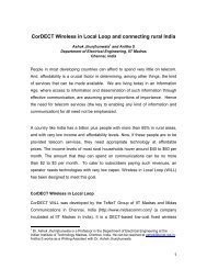 CorDECT Wireless in Local Loop and connecting rural ... - Kambing UI