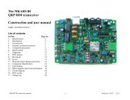 The MKARS 80 QRP 80M transceiver Construction ... - Kambing UI