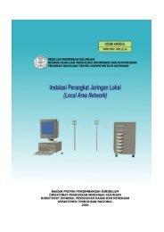 Menginstalasi perangkat jaringan lokal(LAN) - Depan