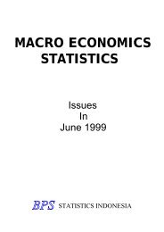 MACRO ECONOMICS STATISTICS - Index of