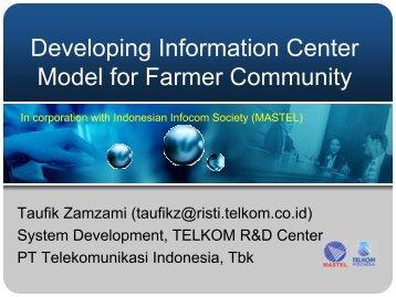 TELE_07 Information Center Model for Farmer Com..