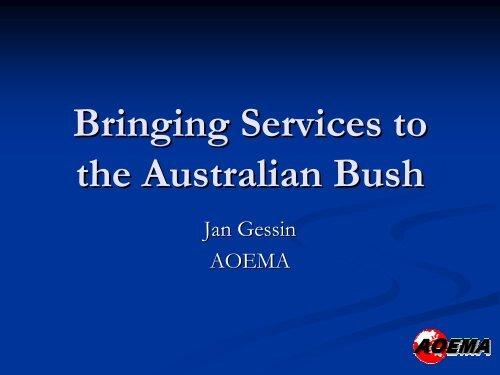TELE_11 Bringing Services to the Australian Bus..