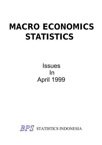 MACRO ECONOMICS STATISTICS - Index of