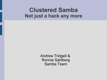 Clustered Samba - mirror