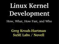 Linux Kernel Development Greg KroahHartman SuSE Labs ... - dei.uc.
