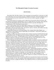 The Philosophical Origins of Austrian Economics - Ludwig von ...