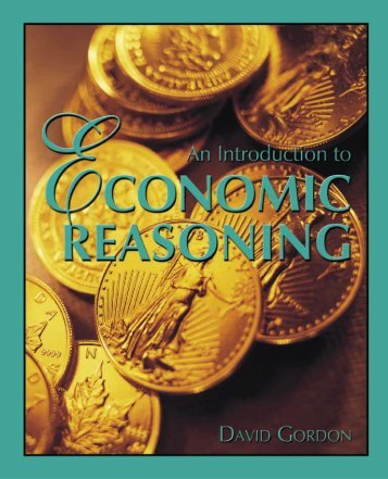 An Introduction to Economic Reasoning - Ludwig von Mises Institute