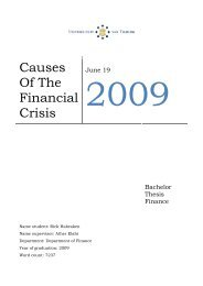 Causes Of The Financial Crisis - Ludwig von Mises Institute
