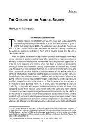 The Origins of the Federal Reserve - Ludwig von Mises Institute