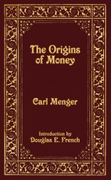 The Origins of Money - Ludwig von Mises Institute