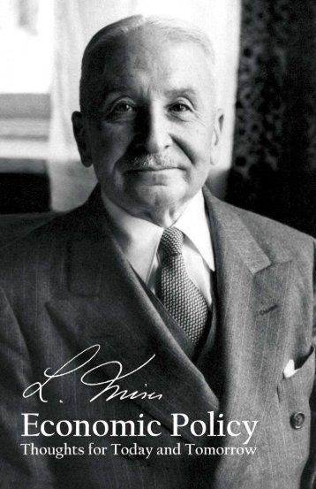 Economic Policy - Ludwig von Mises Institute