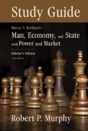Study Guide to Man, Economy, and State with Power and Market