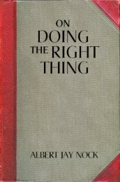 On Doing the Right THing - Ludwig von Mises Institute