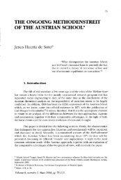 the ongoing methodenstreit of the austrian school - Ludwig von ...