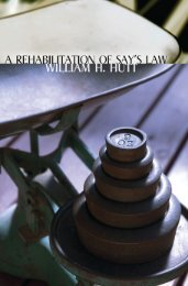 A Rehabilitation of Say's Law - Ludwig von Mises Institute
