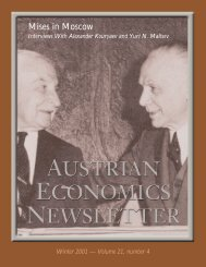 Mises in Moscow: Interviews with Two Russian Misesians