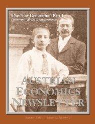 The New Generation: Part 1 - Ludwig von Mises Institute